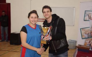 الفضية لفريق المدرسة -لاناث والبرونزية للذكور والمركز الاول لفريق العمل التطوعي في بطولة اجنحة الامل في كرة السلة